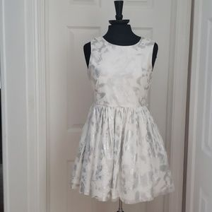 Size 16 White Shimmery Skater Dress